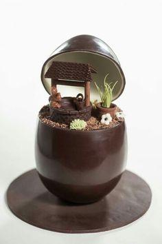Oeuf en chocolat noir... ...
