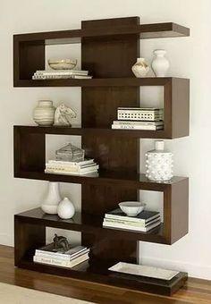 Cheap Bookshelves, Creative Bookshelves, Bookshelf Design, Wall Shelves Design, Bookshelf Ideas, Shelving Ideas, Corner Shelves, Open Shelving, Diy Wood Shelves