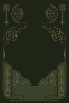 Romantic Art Nouveau Frame Vector Tatuaje Art Nouveau, Drawing Activities, Background Pictures, Media Design, Disney Drawings, Free Vector Art, Abstract Landscape, Art Images, Line Art