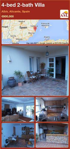 4-bed 2-bath Villa in Albir, Alicante, Spain ►€800,000 #PropertyForSaleInSpain