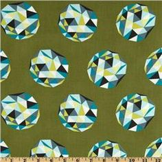 The Birds & The Bees Meteor Shower Olive - 1yd - 8/12 - washed - Whipstitch