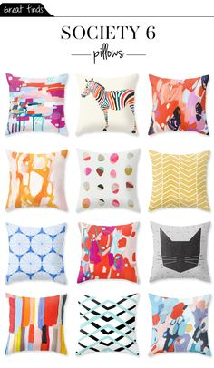via The Vault Files: Great Finds File: Society 6 pillows. | done deal after christmas