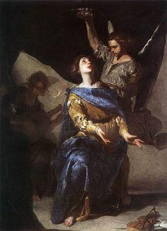 BERNARDO CAVALLINO, Estasi di Santa Cecilia Bernardo Cavallino -  (Napoli, 1616 – Napoli, 1656) è stato un pittore italiano del periodo barocco Museo di Capodimente Napoli