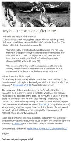 """Christian"" teachings not actually taught in the Bible.....Myth 2 Hell ....just check it out..."