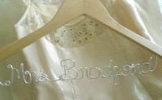 Wedding Dress Hanger Bridal hanger Personalized by ClosedCaptions, $19.97