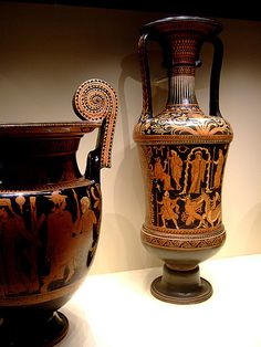 Ritual Water Jar (loutrophoros) with Perseus Battling the Sea Monster Greek made in Apulia South Italy 340-330 BCE Terracotta (3) by mharrsch, via Flickr