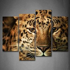 First Wall Art  Leopard Head Wall Art Painting Pictures Print On Canvas Animal The Picture For Home Modern Decoration -- For more information, visit image link. (This is an affiliate link)