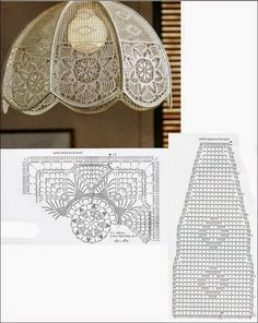 View album on Yandex. Lampe Crochet, Crochet Lampshade, Crochet Doilies, Doily Patterns, Embroidery Patterns, Crochet Patterns, Crochet Home, Cute Crochet, Crochet Ornaments