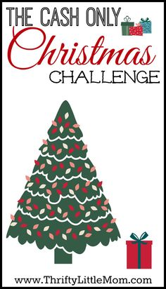 The Cash Only Christmas Challenge.  If January bills get you down it's time to revamp your holiday saving and spending plan.  Join Thrifty Little Mom in a quest for more families to enjoy the holidays this year debt free!  Will you join the challenge?  Join the challenge and get access to the FREE Cash Only Christmas Challenge Planning Kits.