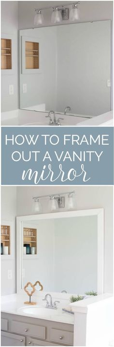 Beau 34 Easy Remodelling Projects And Ideas For A Stylish And Cheap Home  Upgrade. Mirror FramingVanity MirrorsBathroom ...