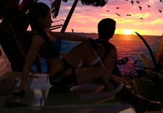 Tropical Sunset - Tomb Raider audio atmosphere#TR #TombRaider #LaraCroft #VideoGame #AmbientNoise #Ambiance #Ambient