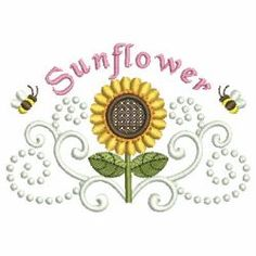 Sunflowers 10 machine embroidery designs