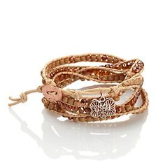 Curations with Stefani Greenfield Beaded Cotton Cord Fall Wrap Bracelet at HSN.com. #HSN, #Fall Trunk Show