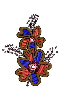 Patch Embroidery Design 13265