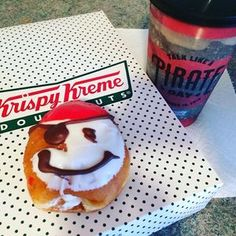 """Aarrrrgggghhhhh ⚓️ today is """"talk like a pirate"""" day. So for breakfast, a pirate doughnut is the only way to get this day started!!"""