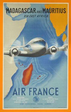 Air France - Madagascar and Mauritius via East Africa - (Renluc) -