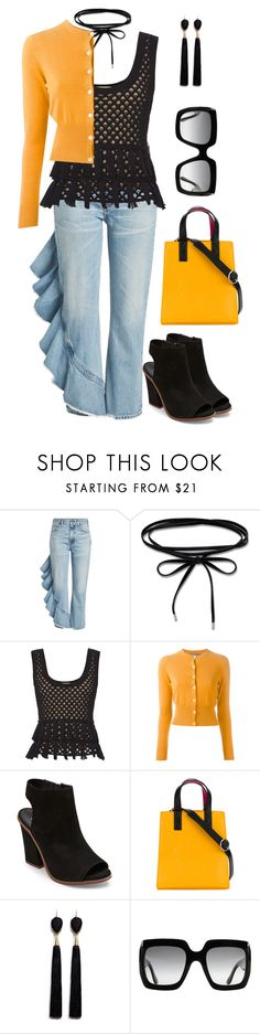 """""""SUNGLASSES"""" by paula-parker ❤ liked on Polyvore featuring Citizens of Humanity, Thomas Sabo, L'Agence, N.Peal, Steve Madden, Kenzo, Mignonne Gavigan and Gucci"""