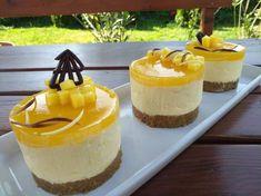 Mangó mousse minitorták sütés nélkül Mango Mousse, Mango Recipes, Mousse Cake, Cakes And More, Cookie Recipes, Panna Cotta, Cheesecake, Food And Drink, Gluten Free