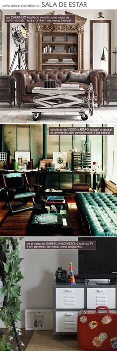 Unusual furniture, industrial style.