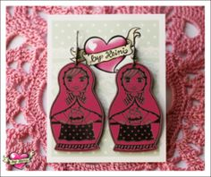by Heini - Maatuska korvakorut (pinkki) Personalized Items