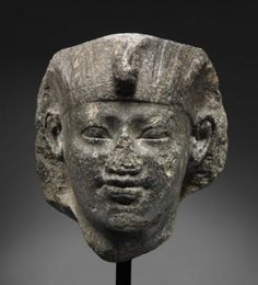 Head of Amenemhat I, Egyptian Middle Kingdom, Dynasty reign of Amenemhat I, B. Ancient Egyptian Artifacts, Egyptian Kings, Broken Nose, Egypt News, The Bible Movie, Museum Of Fine Arts, Ancient Civilizations, Stone Art, Black History