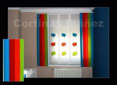 Japonés de 5 vías, 3 paneles en visillos con motivos de nubes en tela sobrebordada y 2 paneles en loneta 50/50 Alg/Pol de colores estampados. El japonés es una solución ideal para cualquier lugar, dan claridad, matizan la luz y decoran, .Elegantes y para cuartos de reducidas dimensiones o grandes ventanales son ideales. En cortinas Ibáñez disponemos de cientos de tejidos que se pueden adaptar a cualquiera de las preferencias del cliente más exigente.
