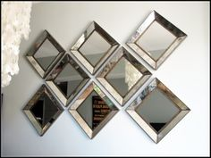Lindsey Meyl Designs: Dubois Mirror Big Wall Mirrors, Living Room Mirrors, Mirror Art, Diy Mirror, Mirror Over Couch, Modern Wall Decals, Asian Home Decor, Geometric Decor, Home Decor Furniture