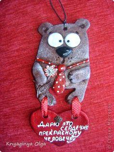 Поделка изделие Валентинов день Лепка Веселая компания зверюшек Тесто соленое фото 1