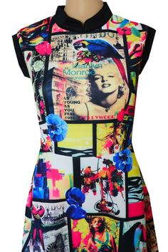 Dress Marilyn Monroe  sukienka piankowa Marilyn Monroe www.dariza.pl Sklep Dariza Stworzona By inspirować