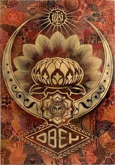 Shepard Fairey Obey Psychedelic Hippie Peace Art Poster ~ ☮~ღ~*~*✿⊱ レ o √ 乇 ! ~ Shepard Fairey is a street artist who originally became known for his Andre the Giant posters in many cities across the USA. Shepard Fairey Art, Shepard Fairy, Obey Art, Illustration Photo, Bokashi, Peace Art, Kunst Poster, Wicca, Exhibition Poster