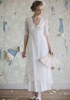 Nadine Dress | Lace Bridal Dresses And 1920s Wedding Dresses At ShopRuche.com (something like this for Roxanne, but in purple)