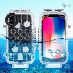Take beautiful underwater photos with your iPhoneX and this clear ,fitted waterp. Fitness Gadgets, Cool Tech Gadgets, Gadgets And Gizmos, Travel Gadgets, Cheap Phone Cases, Mobile Phone Cases, Iphone 7, Iphone Cases, Swimming Diving