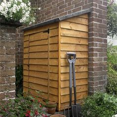 Wooden Garden Sheds Storage Overlap Wall Outdoor Storing Tools 4 Ft. W x 2 Ft. D