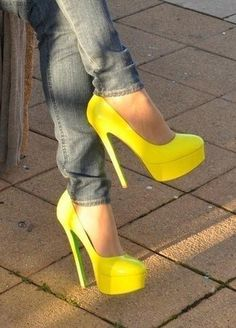 Yellow is my least favorite color for shoes (cars? Yes, Shoes? no) but I am loving these.