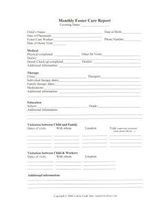 helpful printable worksheets for Foster parents- Freebie