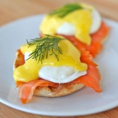 Nova Lox Benedict. Perfectly poached eggs benedict with smoked salmon and lemony homemade hollandaise