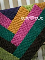 Cuddle Up Log Cabin Blanket Knit Pattern - Electronic Download
