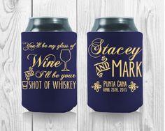 Whiskey Shots, Wedding Koozies, My Glass, Drink Sleeves, Gratitude, Wedding Engagement, Party Favors, Wedding Planning, Wedding Inspiration
