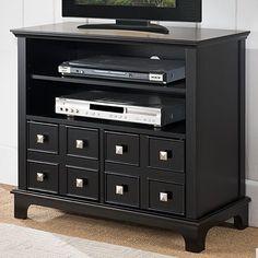 Dark Espresso Hailey Tv Stand Modular Open Shelf Small Hailey