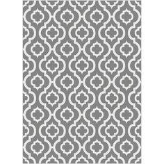 Featuring An Architectural Moroccan Tile Pattern This Tayse Rugs Metro Gray Contemporary Area Rug Offers A Cozy Layered Feeling To Your Living E