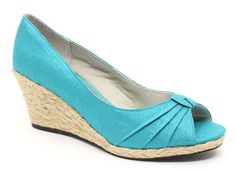Cute Wedges by Houser - Life Stride Romp Espadrille Turquoise Wedge Sandal