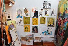 #CCArts Alum Maja Ruznic's studio, courtesy of In the Make