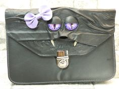 Clutch Wristlet Purse Handbag Pocketbook With Face Black Leather Monster Harry Potter Labyrinth Halloween Accessory