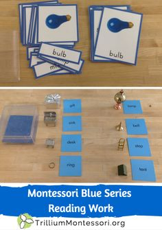 Montessori Blue Series Reading Work