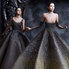 LIT in Stars ! Suitable for a bridal reception. For that woman that loves a dramatic entrance! Wedding Day Weddings Your Big Day Michael Cinco, Couture Mode, Couture Fashion, Evening Dresses, Prom Dresses, Wedding Dresses, Beautiful Dresses, Nice Dresses, High Fashion Makeup