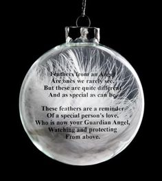 memorial poems for loved ones at christmas Angel Feather Christmas Poem ThriftyFun Christmas In Heaven, Christmas Poems, Christmas Angels, All Things Christmas, Christmas Holidays, Christmas Cocktails, Memorial Ornaments, Christmas Baubles, Diy Christmas Ornaments