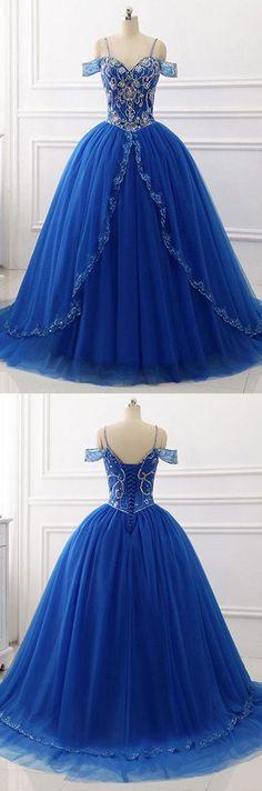 Royal Blue Tulle Long Prom/Evening Dress #prom#eveningdress#promdress #partydress#promgowns#royalblueeveningdress#longpromdress