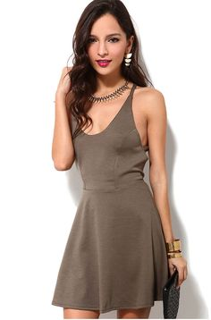 Sexy Womens  Ladies Knot Design Halter Crew Neck Sleeveless Vest Skirt Dress New