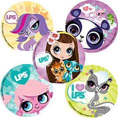 Littlest Pet Shop and Blythe Stickers - Charcter Stickers - SmileMakers