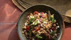 Farro-Chickpea Salad with Sunflower Seeds / Cara Tannenbaum and Andrea Tutunjian / The Splendid Table